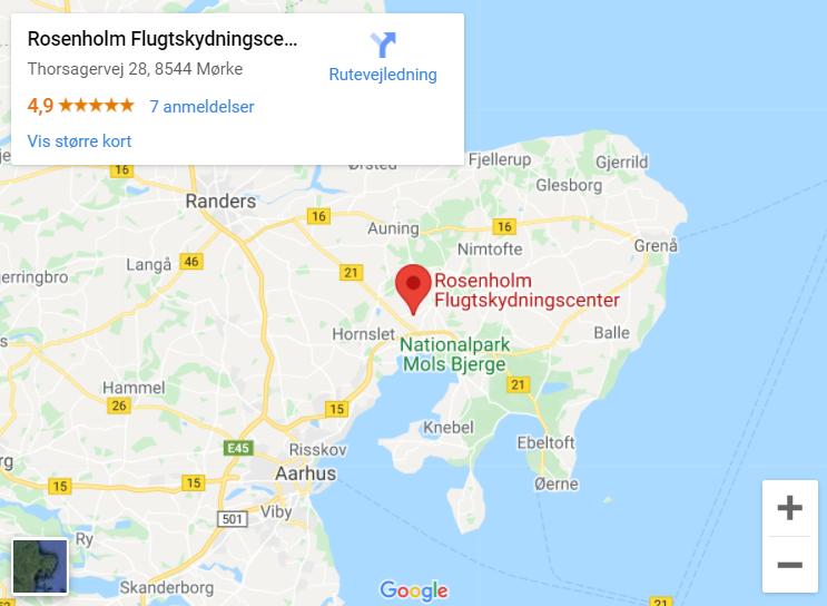 Rosenholm Flugtskydecenter Maps